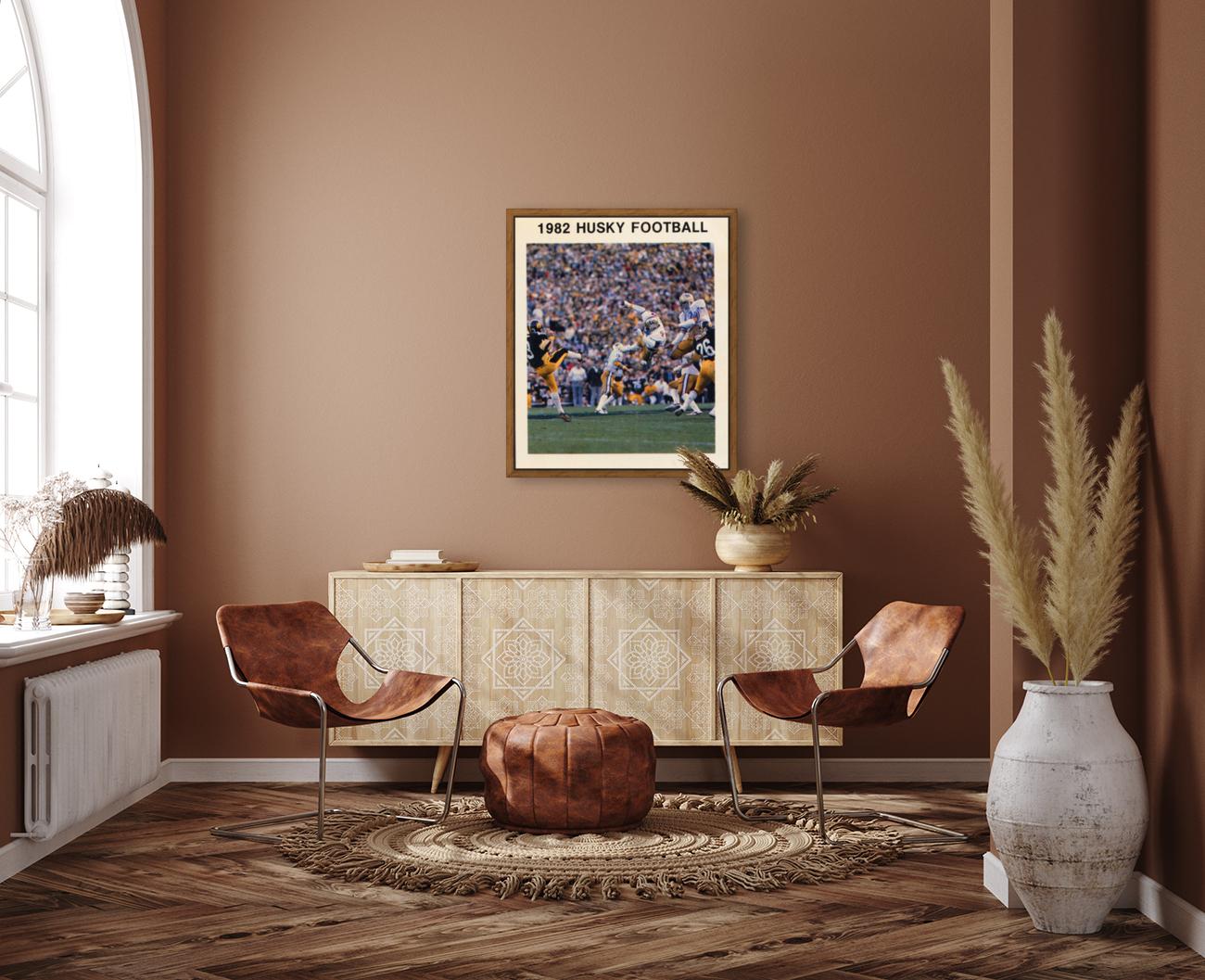 1982 Washington Husky Football Poster  Art