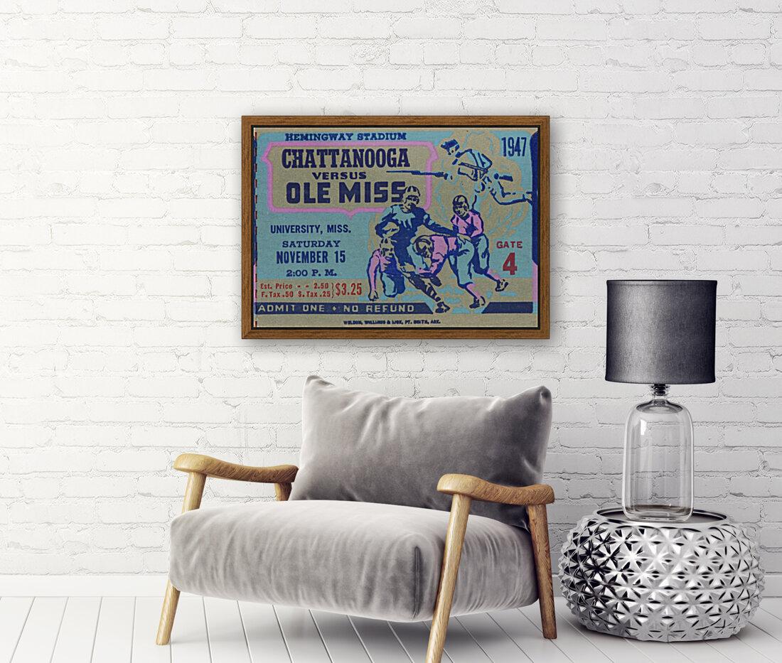 1947 Ole Miss Rebels vs. Chattanooga  Art