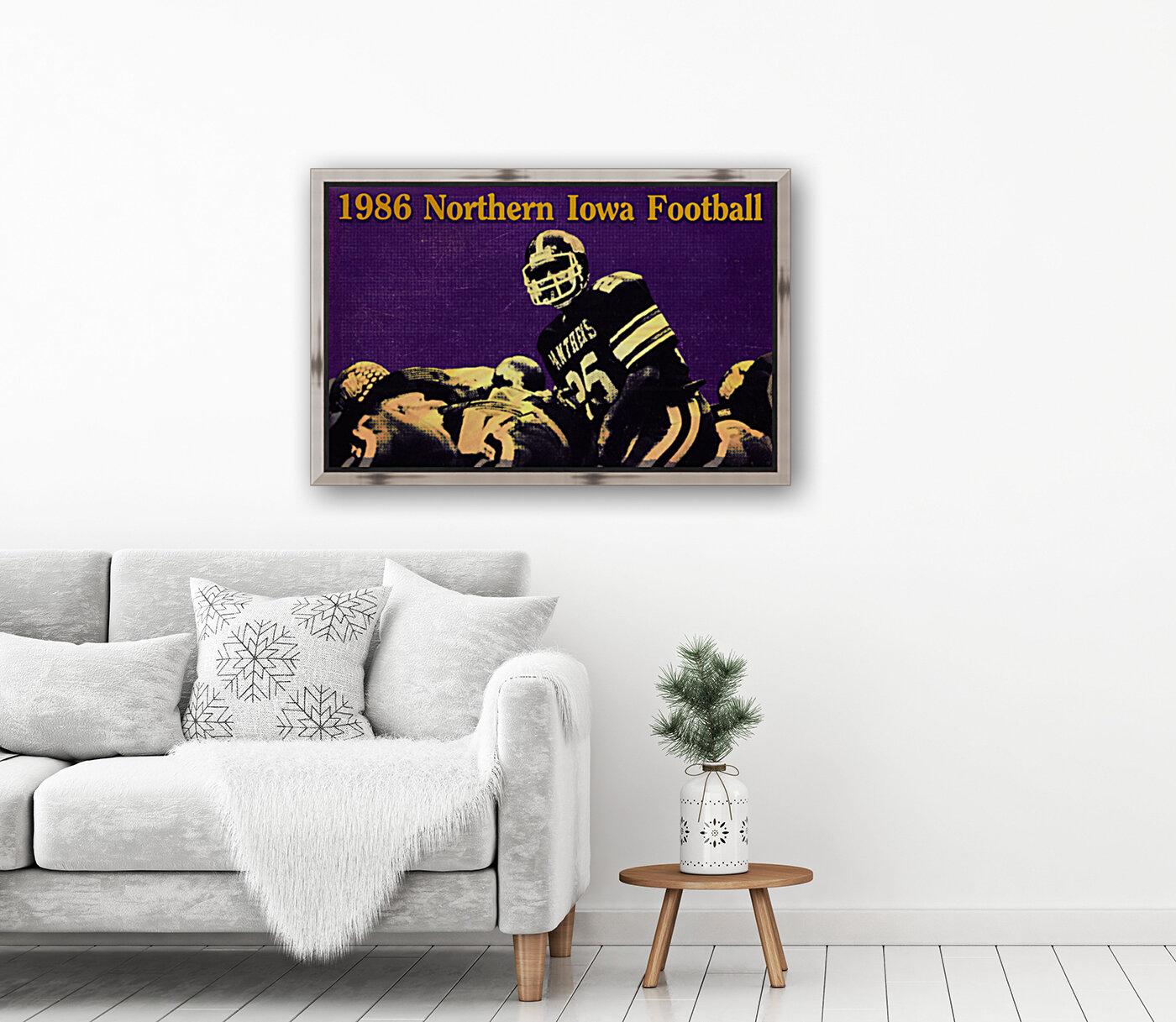 1986 Northern Iowa Panthers Football Poster  Art