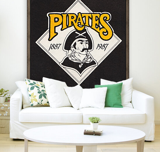 1988 Pittsburgh Pirates Retro Art  Art