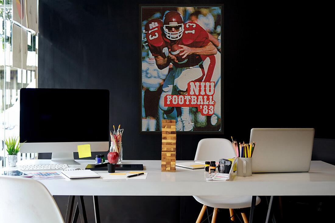1983 Northern Illinois Huskies Football Poster  Art
