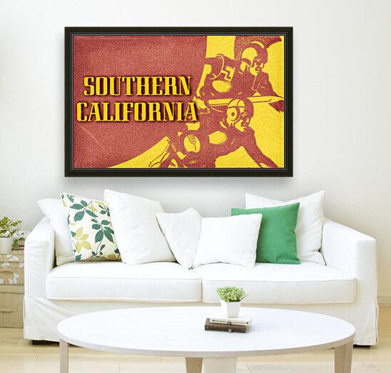 1936 Southern California Football Ticket Remix  Art