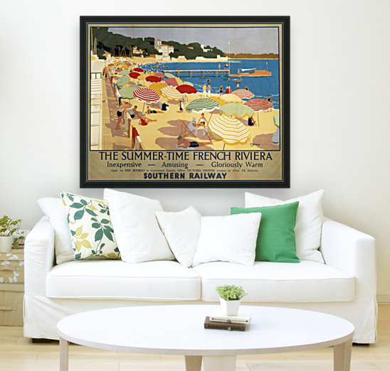 The Summertime French Riviera Southern Railway travel poster  Art
