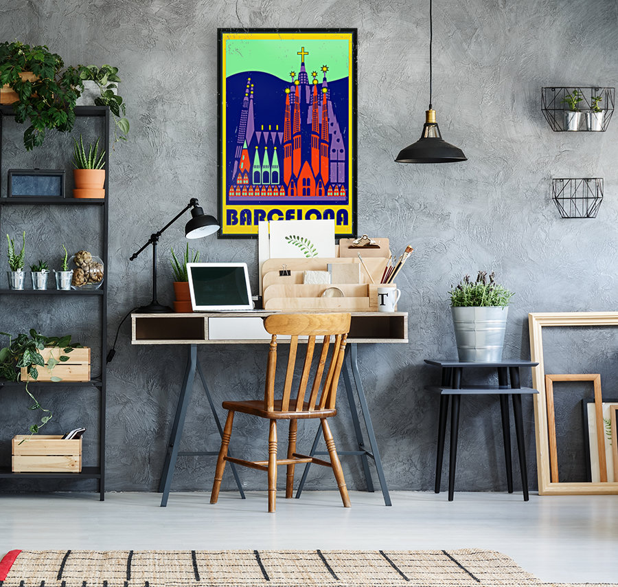 Barcelona travel poster  Art