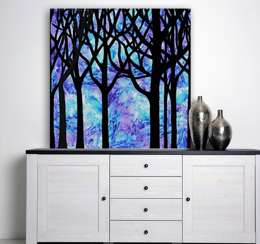 Frozen Forest with Floating Frame