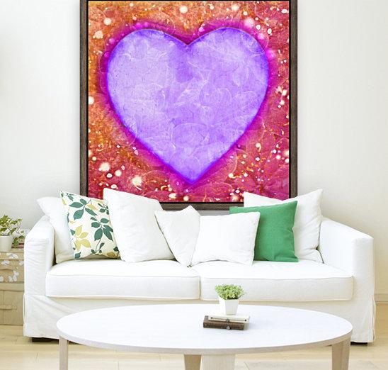 Vibrant Love Digital Art Collage  Art
