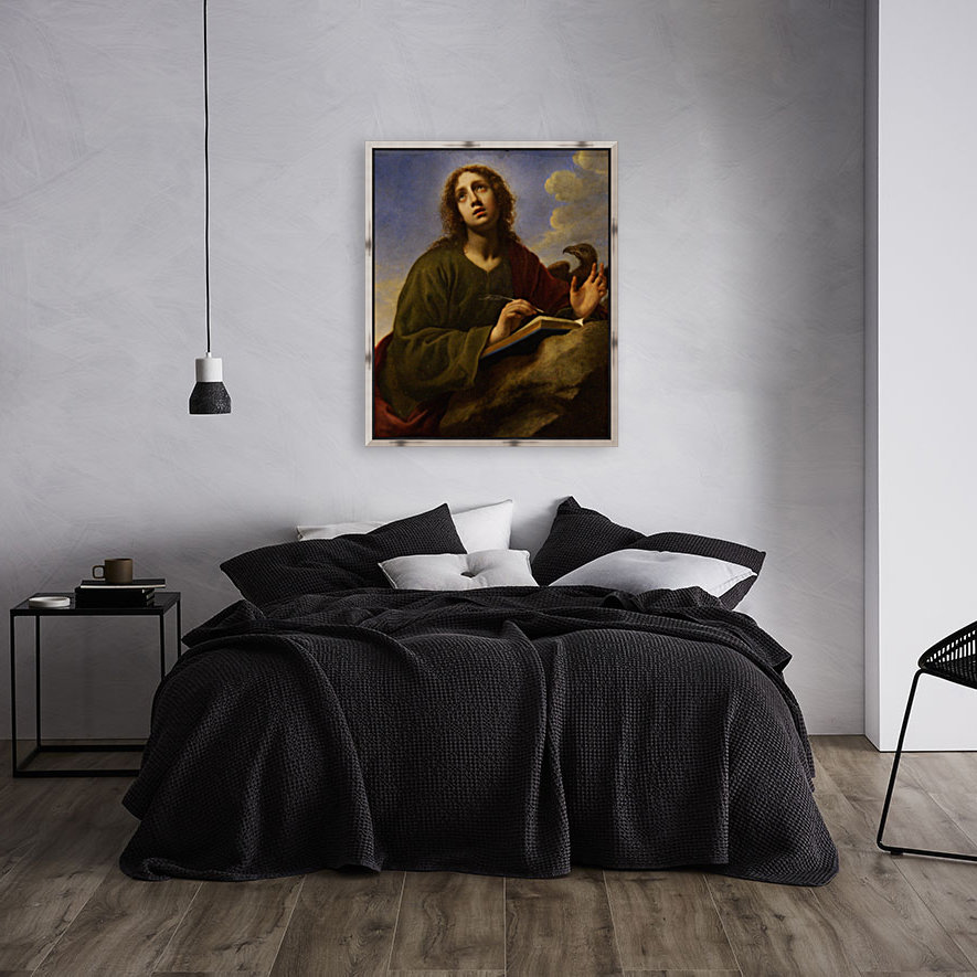 Saint John the Evangelist Writing the Book of Revelation  Art