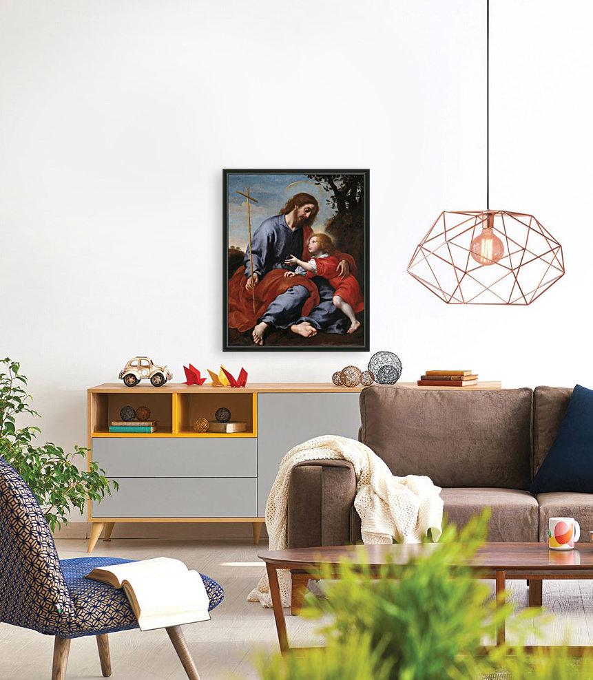 San Giuseppe mostra la croce a Gesu Bambino  Art