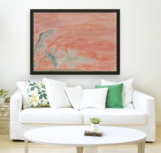 Red landscape  Art