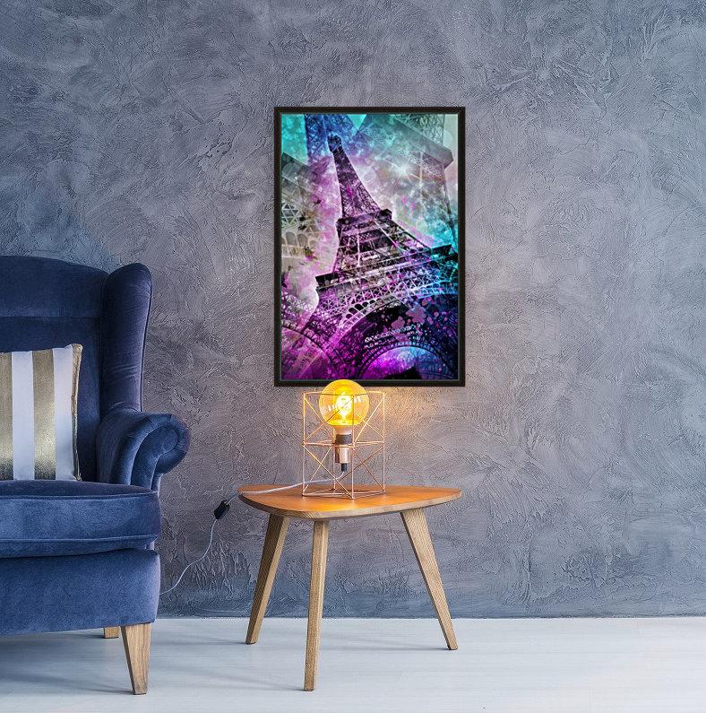 Pop Art Eiffel Tower  Art