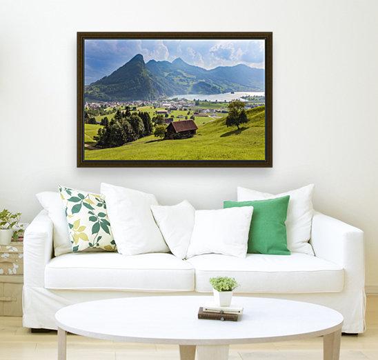Seewen, a village on Lake Lauerz; Schwyz Canton, Switzerland  Art
