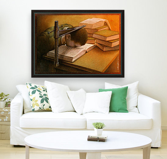 Book with Floating Frame