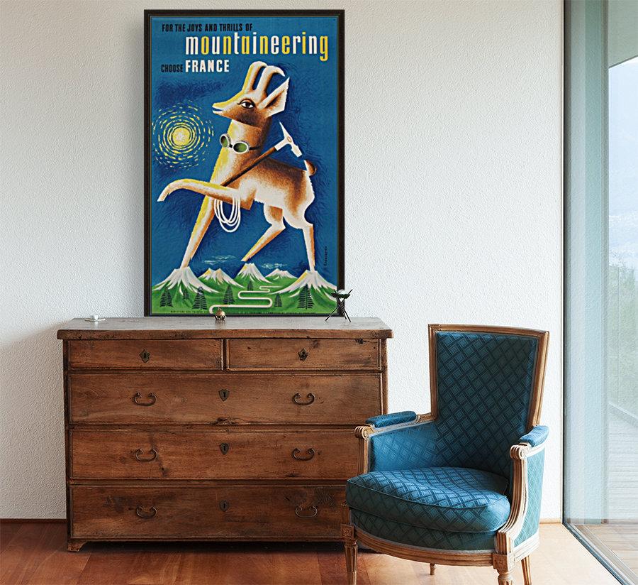 Mountaineering Choose France original vintage poster  Art