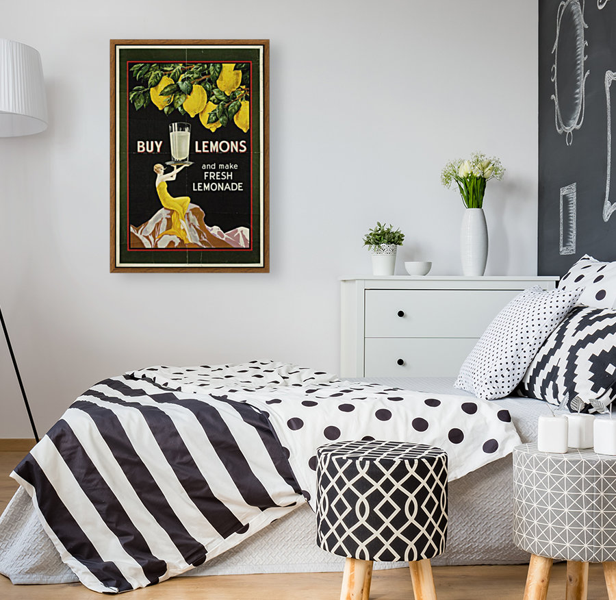 Buy lemons and make lemonade vintage poster  Art