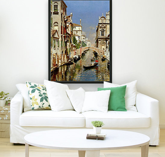 A Venetian Canal with the Scuola Grande di San Marco and Campo San Giovanni e Paolo with Floating Frame