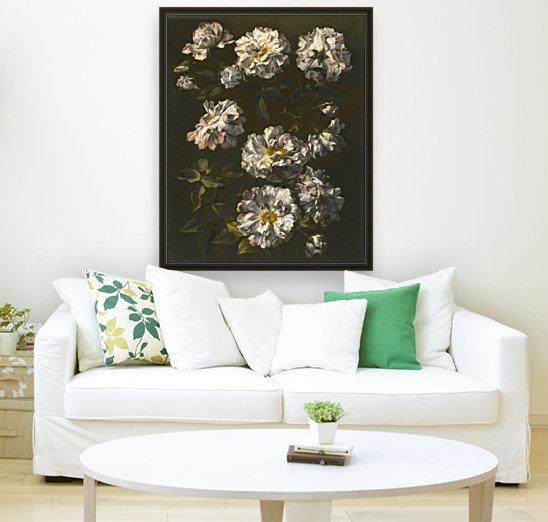 A study of striped white gallica roses  Art