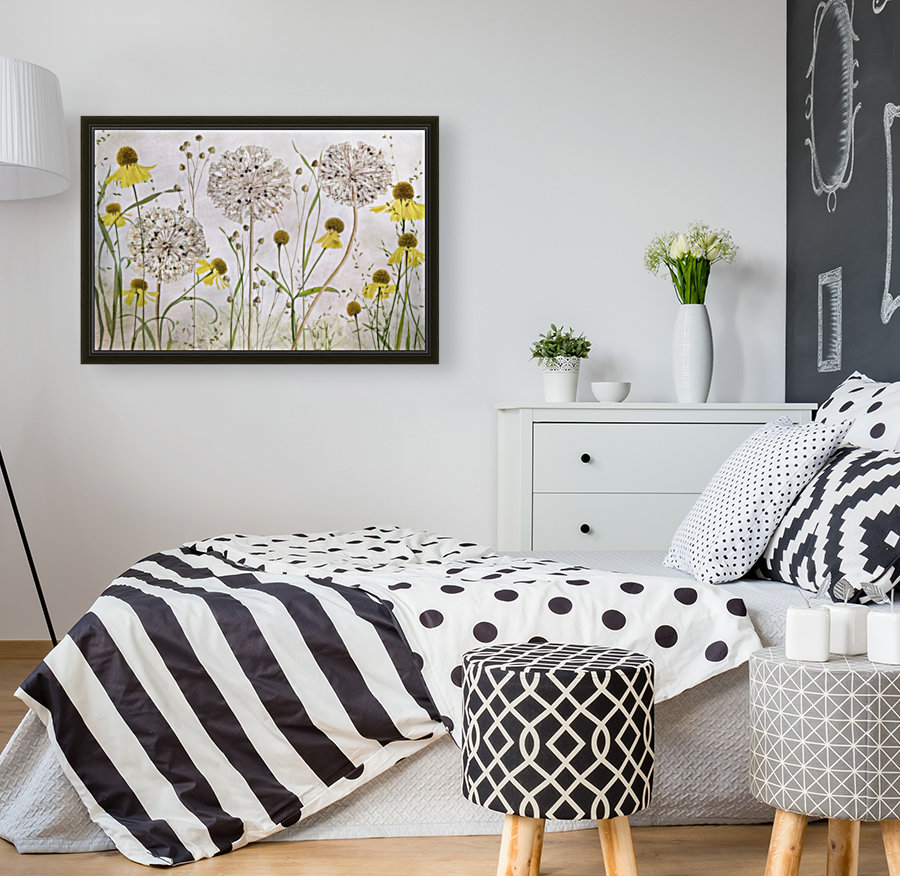 Alliums and heleniums  Art