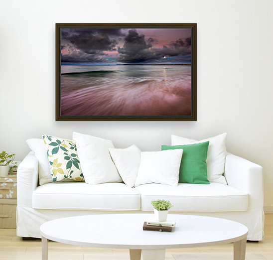 Carbis Bay moonlight with Floating Frame