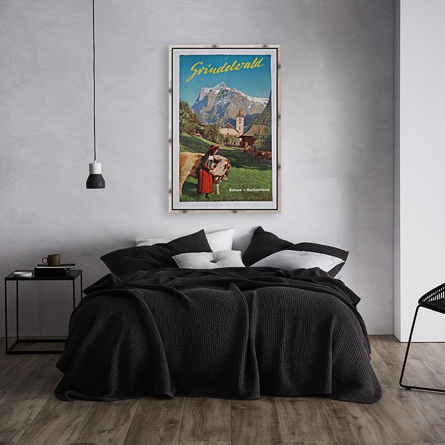 1960 Grindelwald Switzerland original vintage poster  Art