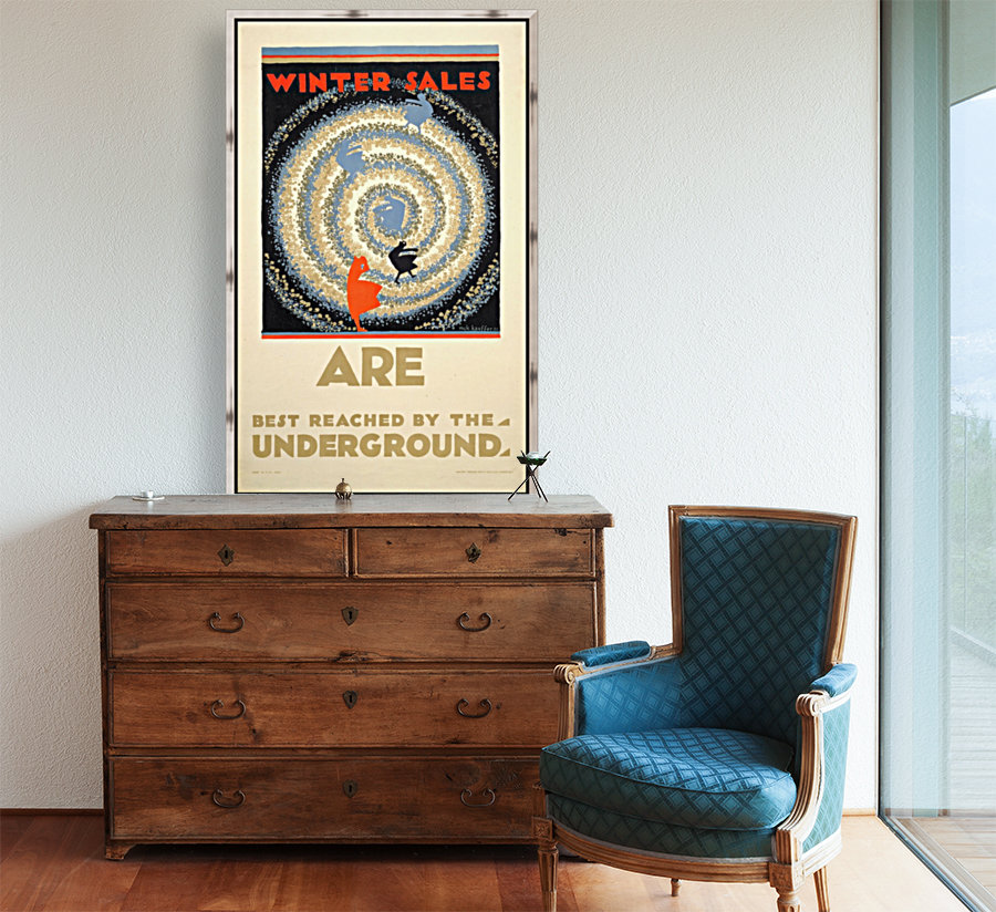 Winter sales are best reached by the underground  Art
