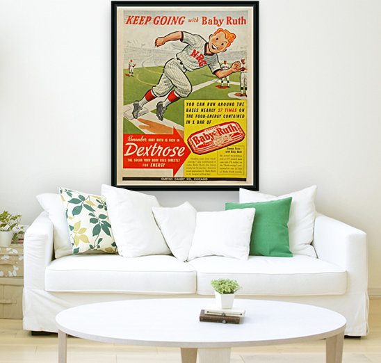Keep going with Baby Ruth  Art
