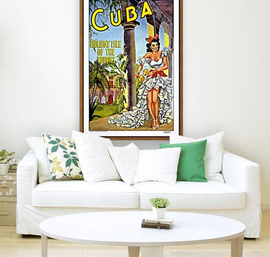 Cuba Holiday Isle of the Tropics poster  Art