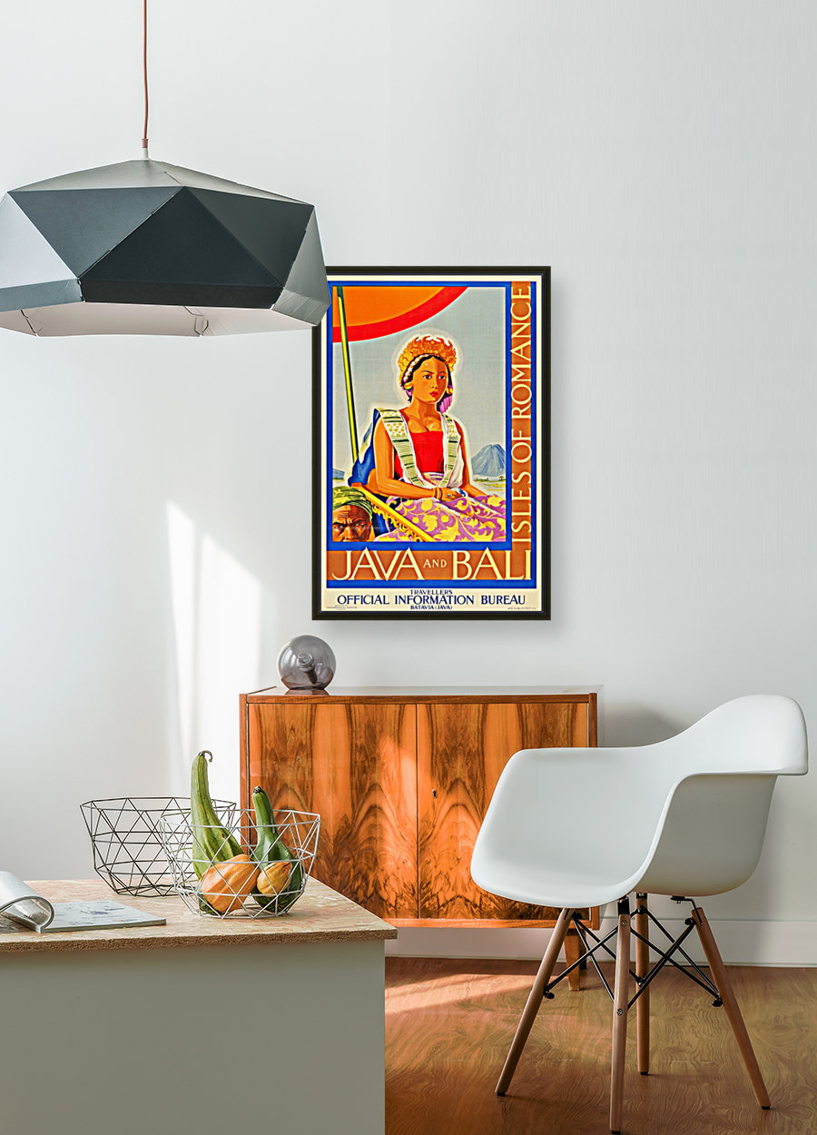 Java and Bali travel poster  Art