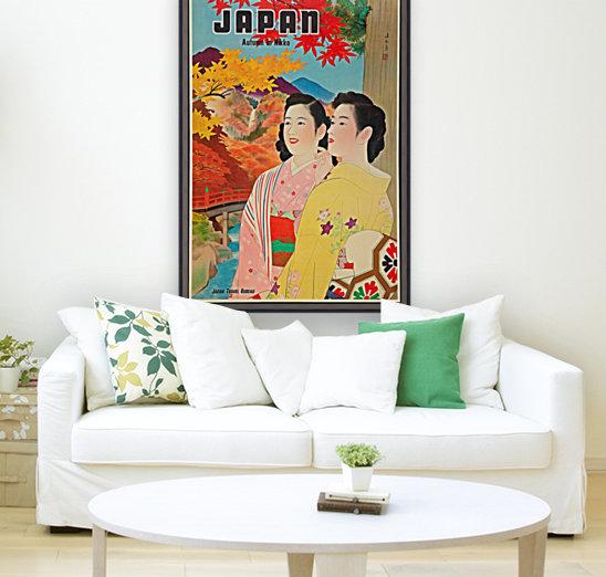 Japan Autumn in Nikko travel poster  Art