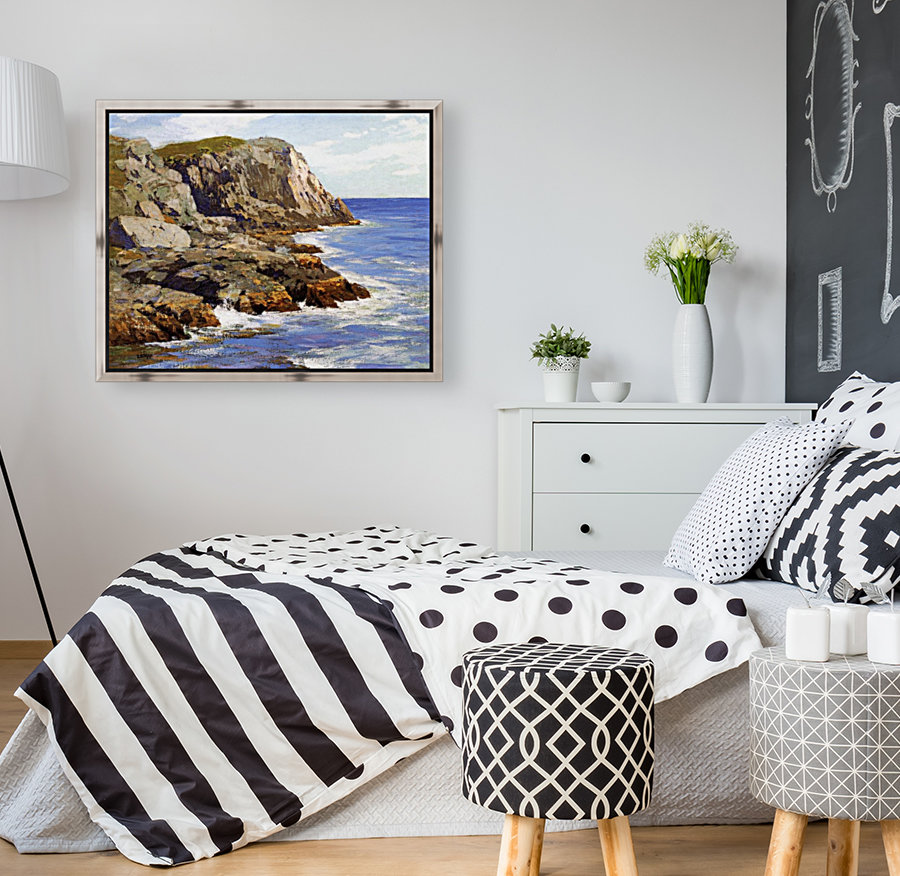 Cliffs and the sea landscape  Art