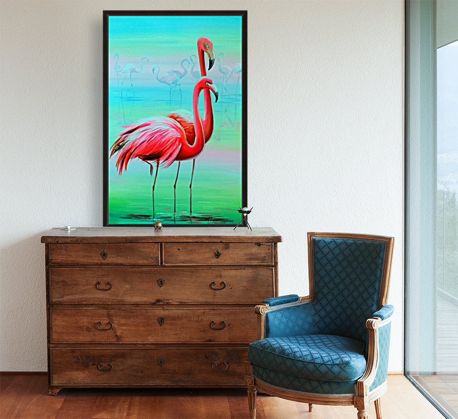 Фламинго на рассвете   Art