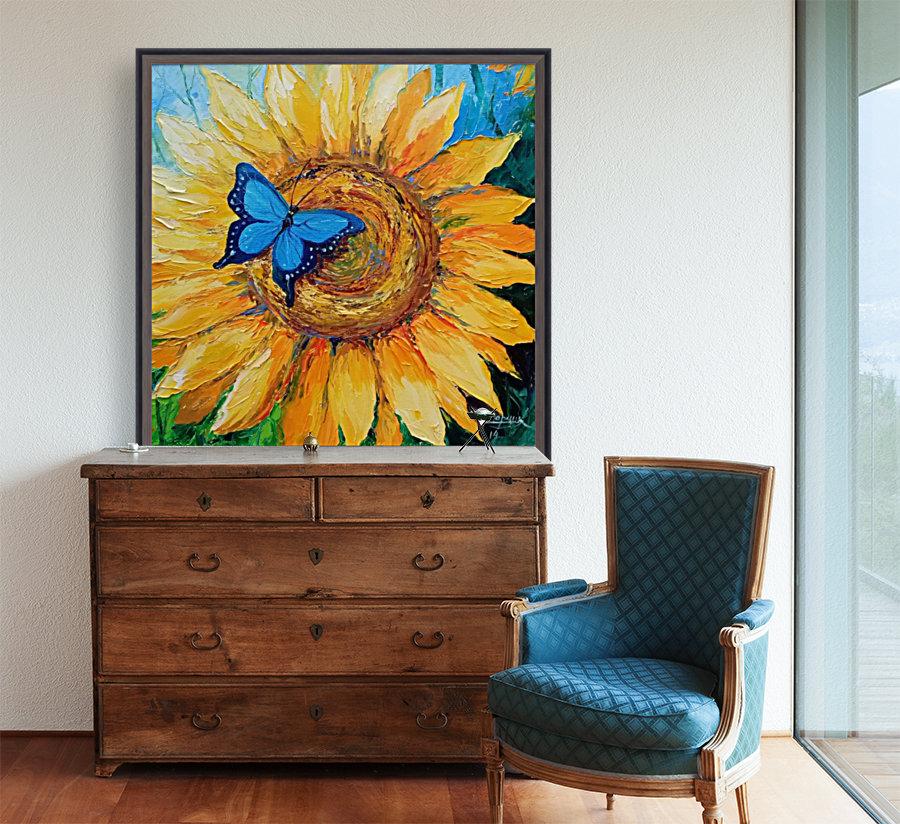 Подсолнух и бабочка  Art
