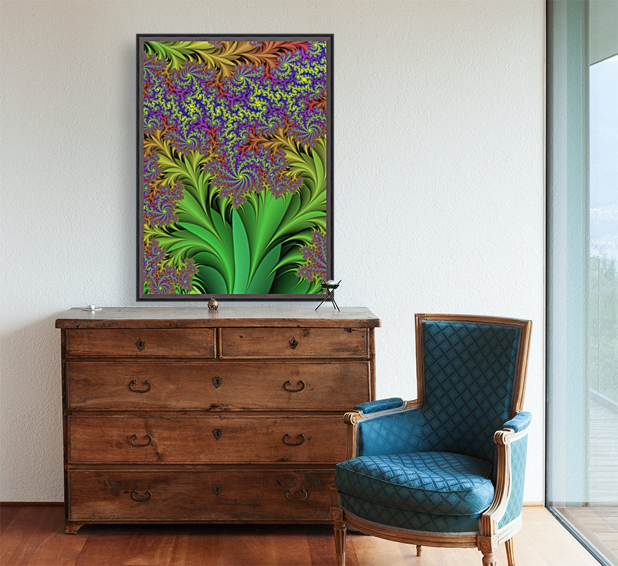 Abstract Design with Floating Frame