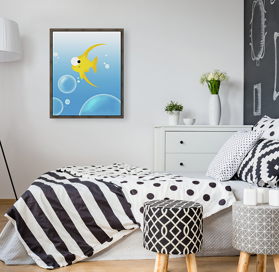 Illustration Of Fish And Bubbles  Art