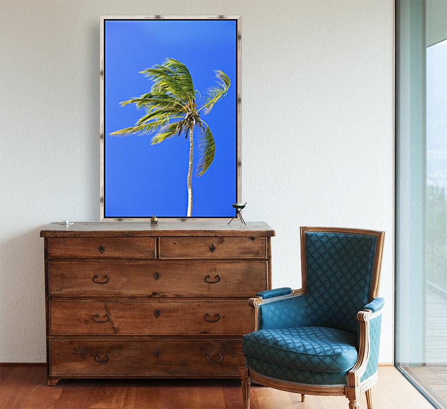 Palm Tree Against Clear Blue Sky  Art