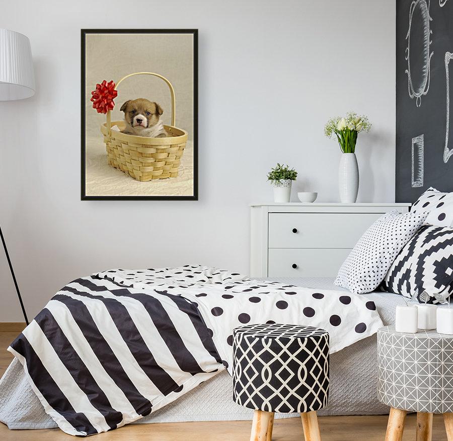 Puppy In A Basket  Art