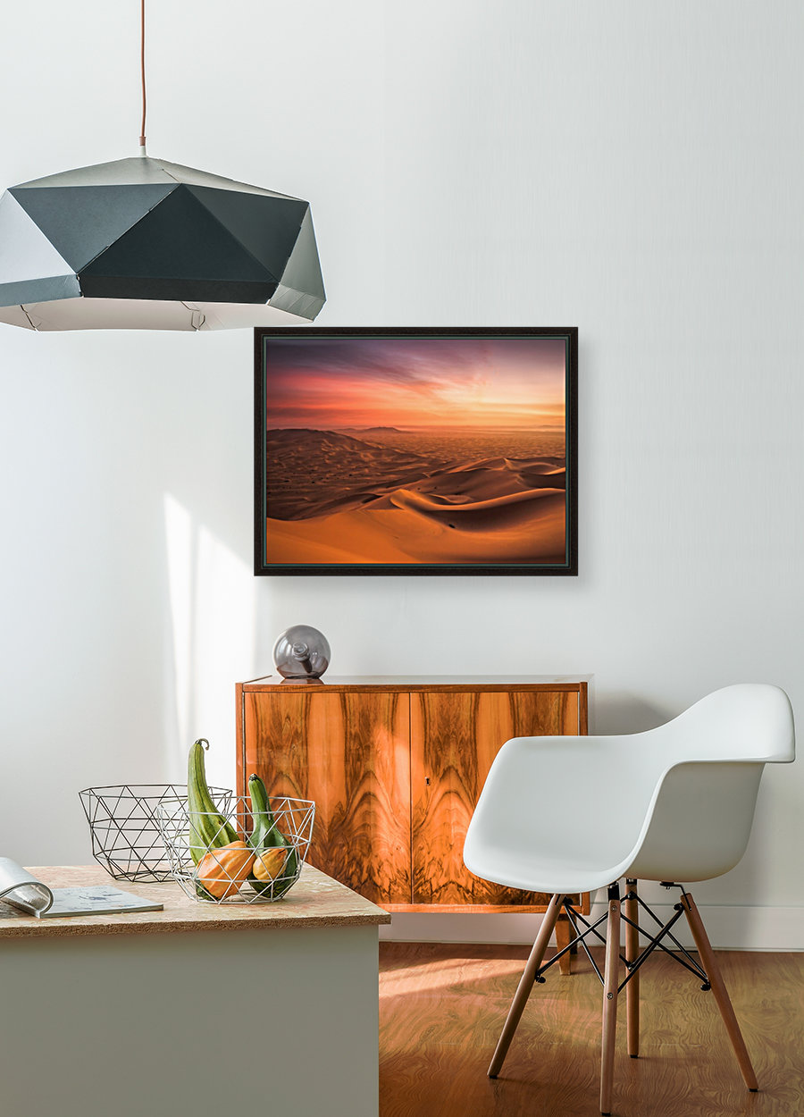 Sunset in the Desert with Floating Frame