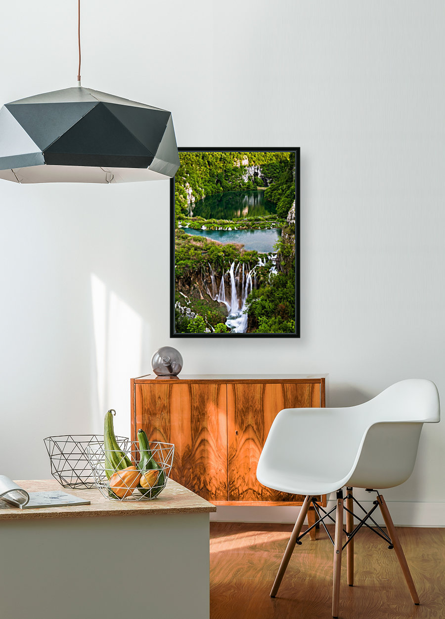 Waterfall Paradise Plitvice Lakes in Croatia  Art