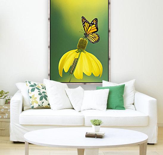 Caterpillar to butterfly;British columbia canada  Art