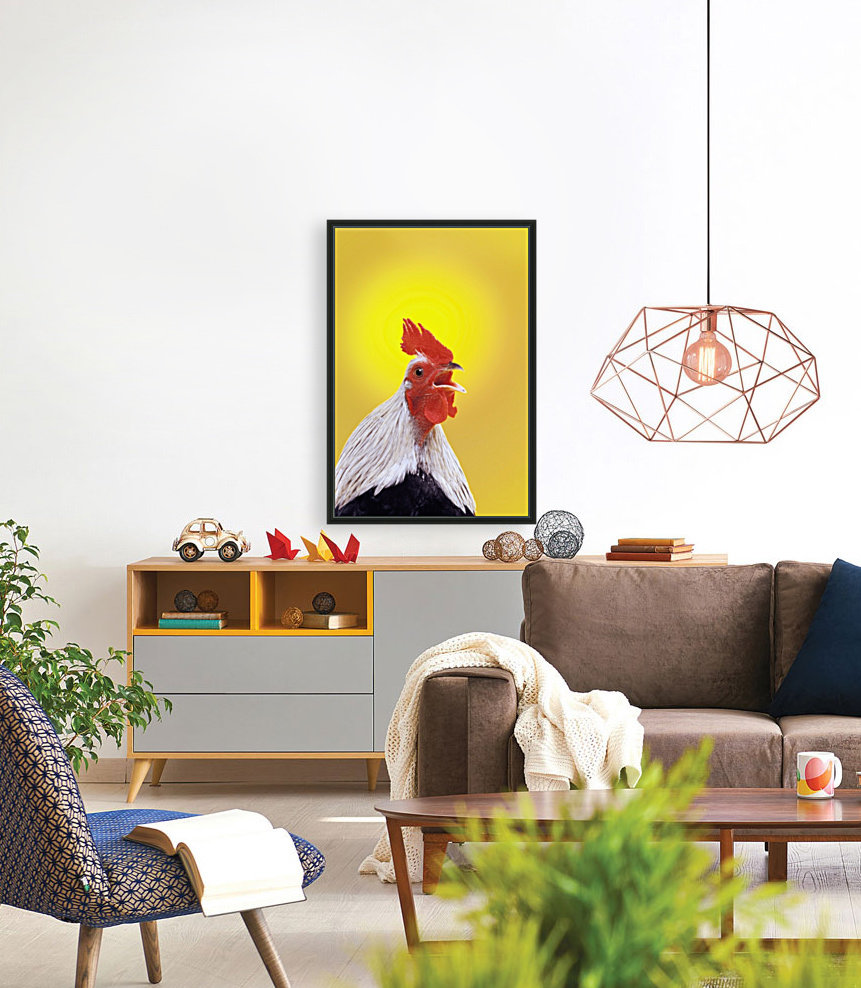 Crowing rooster;British columbia canada  Art