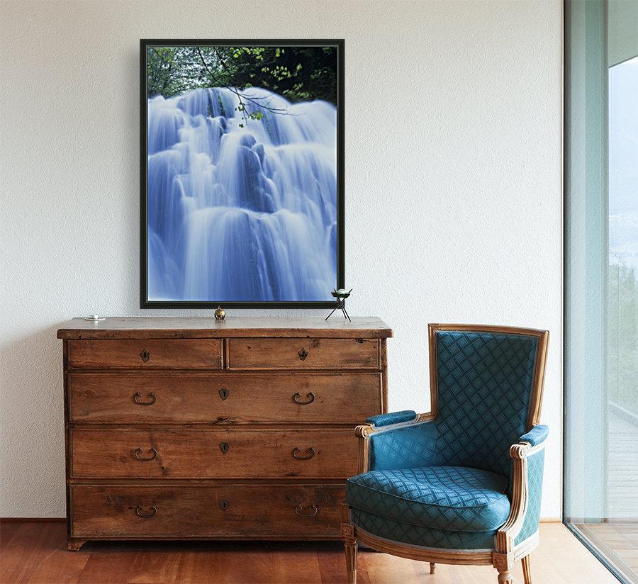 Sweet Creek waterfalls along the hiking trail; Mapleton, Oregon, United States of America  Art