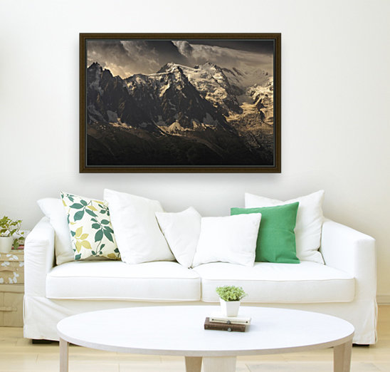 Aiguille du Midi and Mont Blanc, French Alps  Art