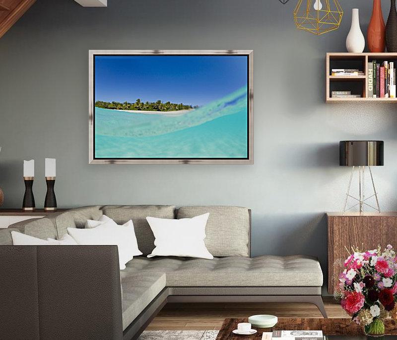 Tropical Island, Blue Sky and Beautiful Ocean  Art