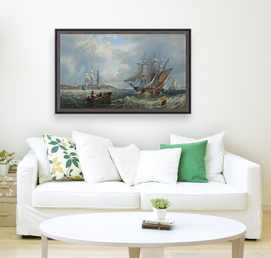 Boats by the sea  Art