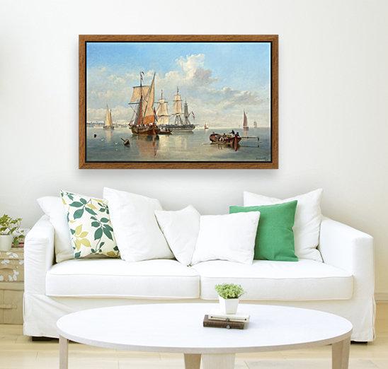 Shipping in a Flat Calm off the Dutch coast  Art
