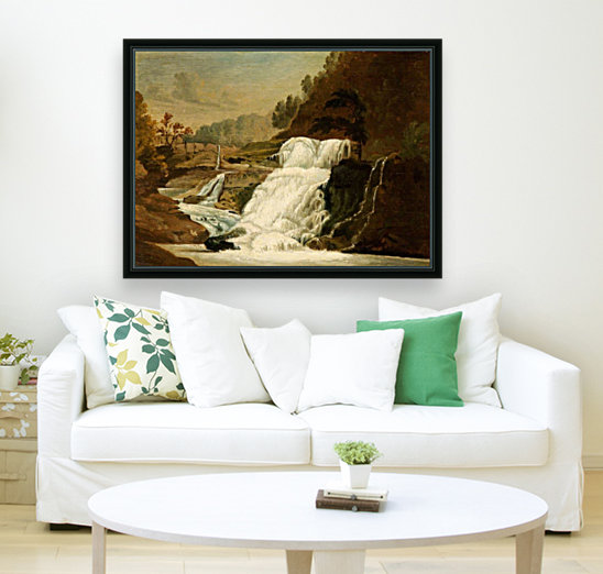 Waterfall in the Neath Valley  Art