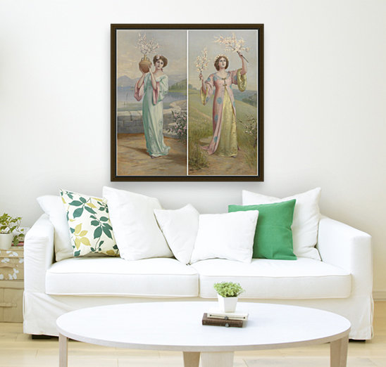 Two youg fairies with Floating Frame