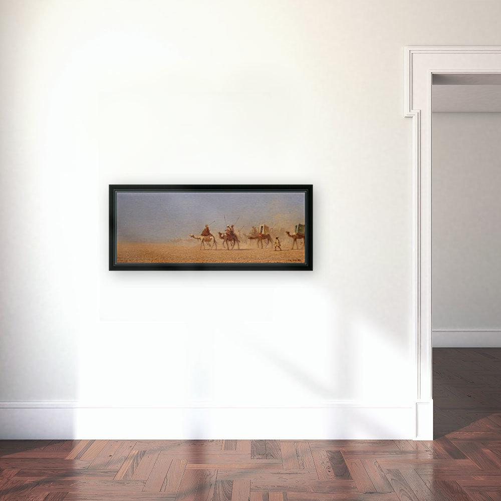 Caravanes traversant le desert  Art