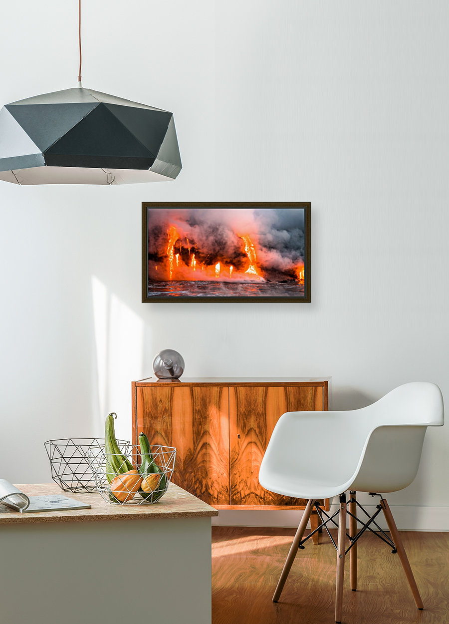 Hawaii Lava  with Floating Frame