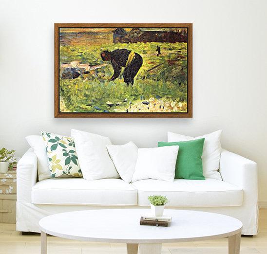 Farmer at work by Seurat  Art