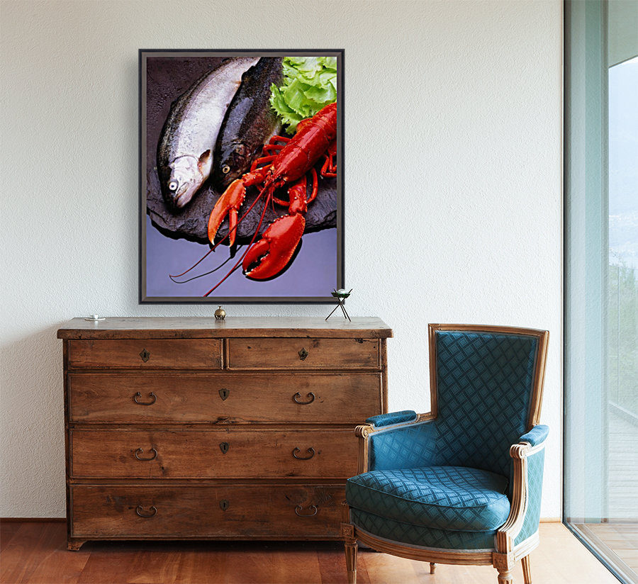 Lobster And Trout  Art